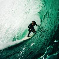 Surfing Green Wave - PicsaStock